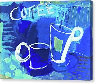 Blue Coffee Canvas Print