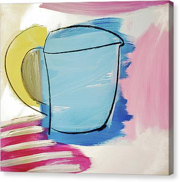 Blue Coffee Mug Canvas Print