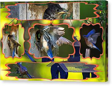Blue Collage 2 Canvas Print by Angel Cher