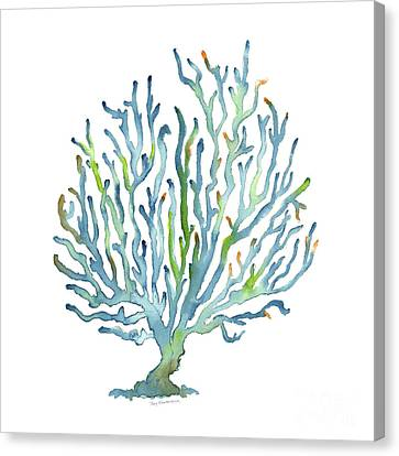 Blue Coral Canvas Print