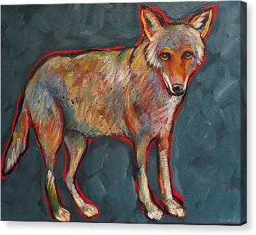 Blue Coyote Santa Fe Style Canvas Print