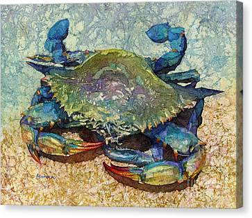 Blue Claw Crab Canvas Print - Blue Crab by Hailey E Herrera