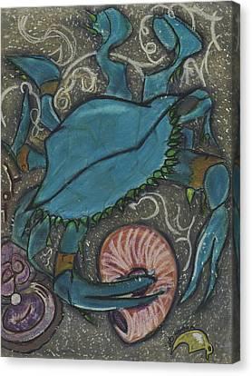 Blue Crab Canvas Print by Stu Hanson