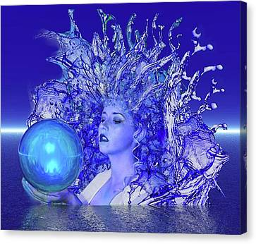 Blue Crystal Canvas Print by Matthew Lacey