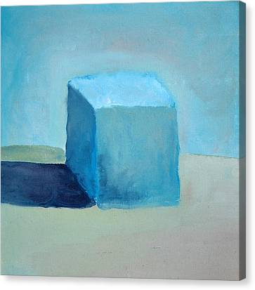 Blue Cube Still Life Canvas Print by Michelle Calkins
