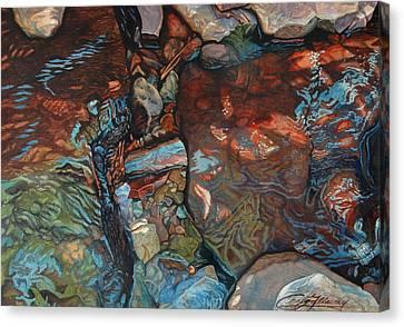 Blue Current Canvas Print by Craig Gallaway