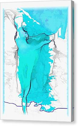 Blue Dancer Canvas Print