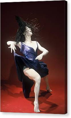 Blue Dancer Right View Canvas Print by Gordon Becker