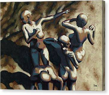 Blue Dancers Canvas Print by Leo Mazzeo