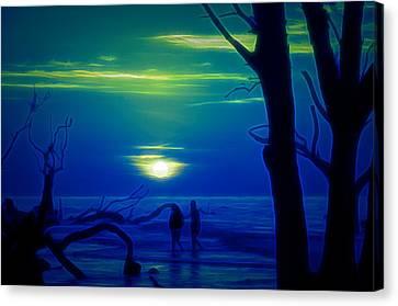 Blue Dawn Canvas Print by Jim Cook