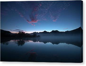 Canvas Print featuring the photograph Blue Dawn by Odille Esmonde-Morgan