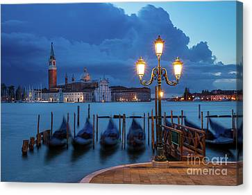 Canvas Print featuring the photograph Blue Dawn Over Venice by Brian Jannsen