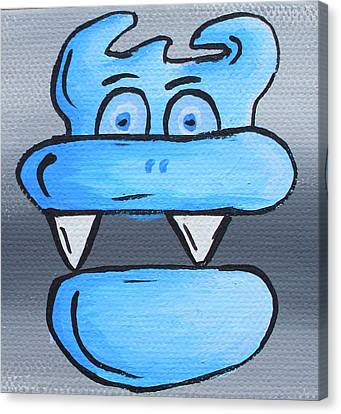 Blue Debil Canvas Print by Jera Sky