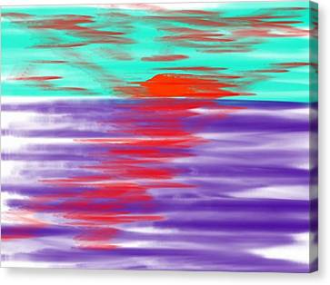 Blue Deep Evening Canvas Print by Dr Loifer Vladimir