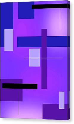 Blue Design 2 Vertical  Canvas Print