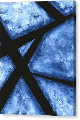 Blue Destiny An Original Contemporary Abstract Painting Original Art By Megan Duncanson Canvas Print
