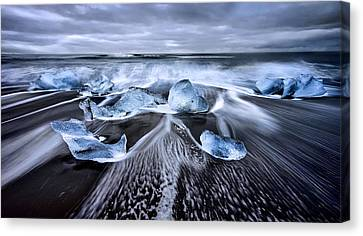 Blue Diamonds Canvas Print by Jes?s M. Garc?a