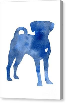 Blue Dog Kids Wall Decor Canvas Print by Joanna Szmerdt