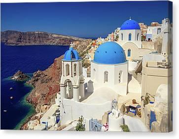Blue Domed Churches Canvas Print