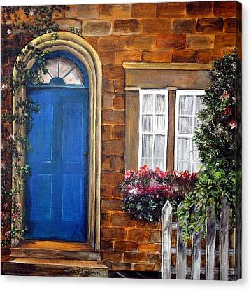Blue Door 2 Canvas Print by Anna-maria Dickinson