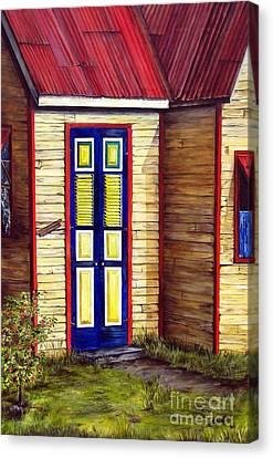 Blue Door Canvas Print by Anna-Maria Dickinson