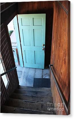 Blue Door Canvas Print by Cheryl Del Toro