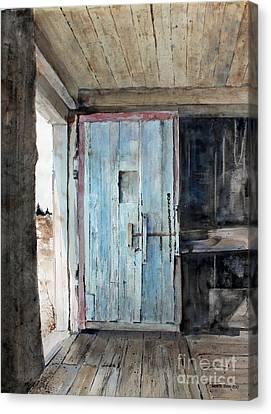 Blue Door  Canvas Print by Monte Toon