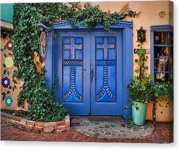 Blue Doors - Old Town - Albuquerque Canvas Print