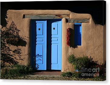 Blue Doors Canvas Print by Timothy Johnson