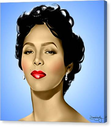 Blue Dorothy Canvas Print by Davonte Bailey
