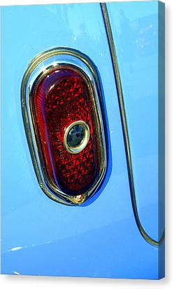 Canvas Print featuring the photograph Blue Dot Taillight by Lynn Bawden