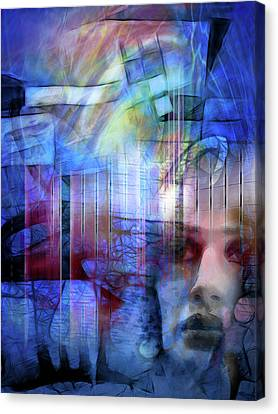 Blue Drama Vision Canvas Print by Lutz Baar
