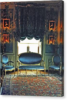 Blue Drawing Room Canvas Print by DigiArt Diaries by Vicky B Fuller