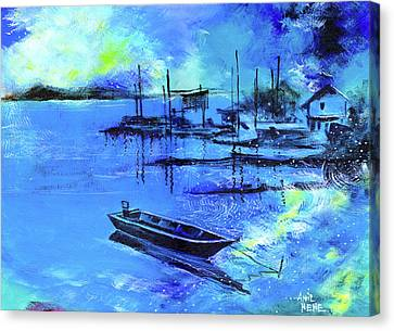 Canvas Print featuring the painting Blue Dream 2 by Anil Nene