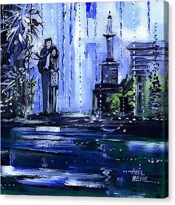 Blue Dream Canvas Print by Anil Nene