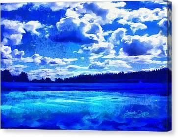 Heavens Canvas Print - Blue Dream by Leonardo Digenio