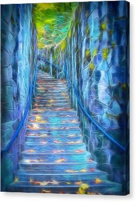 Blue Dream Stairway Canvas Print