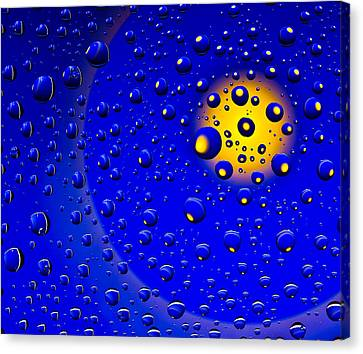 Canvas Print featuring the photograph Blue Drops by Vladimir Kholostykh