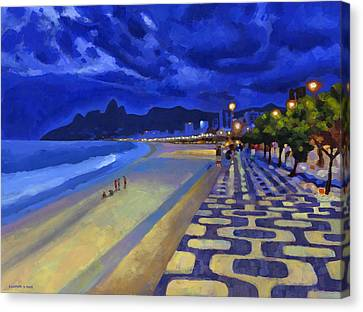 Blue Dusk Ipanema Canvas Print