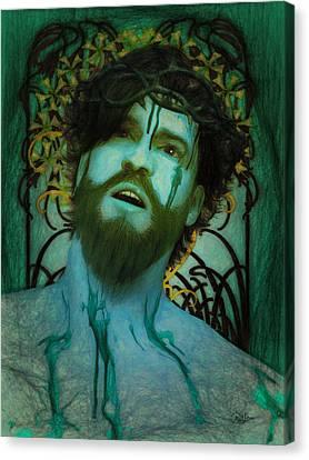 Blue Ecce Homo Canvas Print by Joaquin Abella
