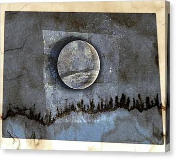 Solar Eclipse Canvas Print - Blue Eclipse by Carol Leigh