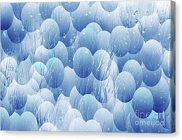 Canvas Print featuring the photograph Blue Eggs - Abstract Background by Michal Boubin