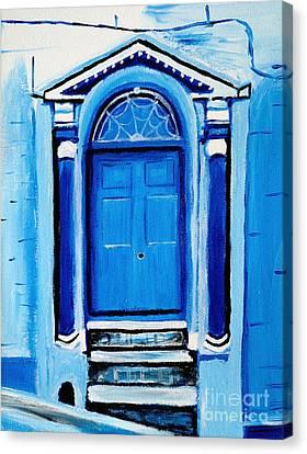 Blue Entrance Canvas Print by Art by Danielle