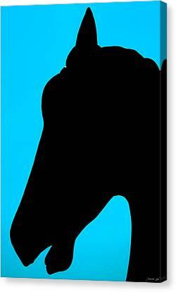 Canvas Print featuring the photograph Blue Equus by JoAnn Lense