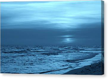 Blue Evening Canvas Print by Sandy Keeton