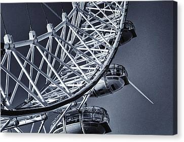 Amusements Canvas Print - Blue Eye by Joan Carroll