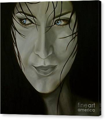 Blue-eyed Girl Canvas Print by Jindra Noewi