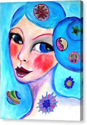 Blue Eyed Woman Canvas Print