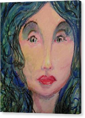 Blue Eyes Canvas Print by Derrick Hayes