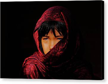 Blue Eyes Canvas Print by Okan YILMAZ